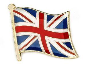 Union Jack : UK BRITAIN Flag Lapel Pin Badge - High Quality Gloss Gold NEW