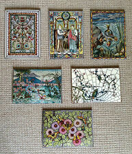 Set of 6 Stained Glass Design Magnets for your Fridge
