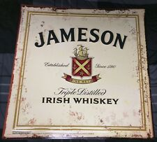 JAMESON IRISH WHISKEY 2012 METAL / TIN HOME DECOR SIGN BAR / TAVERN / MAN CAVE