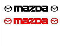 2 x MAZDA CAR STICKERS DECAL 820mm x 95mm  IN VARIOUS COLOURS  RX8 MX5 CX5 6 3