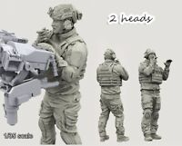 1/35 Resin Modern US Special Force Soldier 2 Heads unassembled unpainted BL197