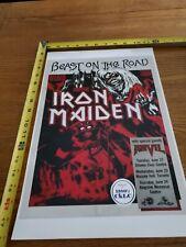Iron Maiden Rare 1982 Toronto Concert Poster