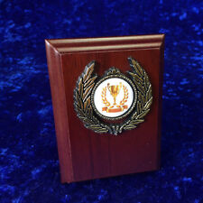 Wooden Plaque Shield Sport Winner Golf School Winner Trophy Award FREE engraving