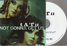 TATU T.A.T.U NOT GONNA GET US france french CD PROMO card sleeve
