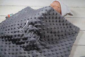 ★Zweilagige Decke ★ Kinderwagendecke mit Namen ★ Baumwolle ★ 50 x 75 cm ★ MINKY