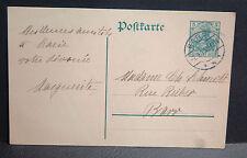 ENTIER POSTAL ALLEMAND 5 VERT oblitéré de BARR du 7. 9. 13. (1913)