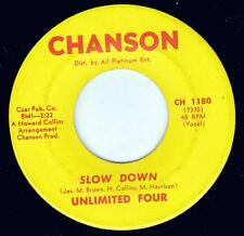 """Unlimited Four Slow Down / Walk Away Lover 7"""" CH 1180 Chanson RARE"""