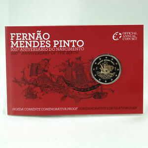 2 Euro Gedenkmünze Münze Coin Portugal Fernao Mendes Pinto Proof PP 2011 Folder