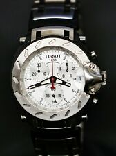 Tissot 1853 T Race Chronograph Watch Black & Silver Tone St. Steel T011417 A