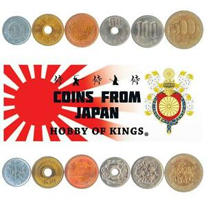 SET 6 COINS FROM JAPAN: 1, 5, 10, 50, 100, 500 YEN. JAPANESE CURRENCY: 1989-2019