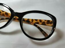 NEW 1.50 Betsey Johnson Reading Glasses Round Black & Tortoise Readers