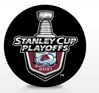 COLORADO AVALANCHE 2021 NHL PLAYOFFS HOCKEY PUCK STANLEY CUP 1ST 2ND ROUNDS
