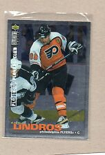 eric lindros flyers insert card 1995/96 platinum 57 ud collectors choice