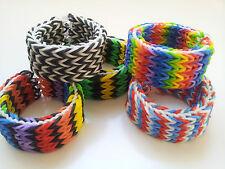 Rainbow Loom Rubber Band Bracelet - Quadruple Fishtail,  Pick or Custom Made