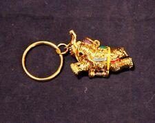 "Beautiful 1.5"" Brass Elephant Keychain Hidden Compartment w/Hinge Asian Oriental"
