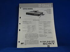 Sony ST-S444ES Stereo Tuner Service Manual