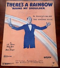 Sheet Music Rainbow Round My Shoulder  Al Jolson 1927  DeSilva,Brown & Henderson