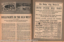 Mexican Bullfight at Dodge City, Kansas 1884 + Genealog