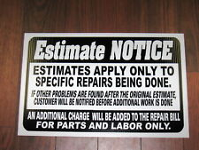 Any Service Business Sign: Repair Estimate Notice