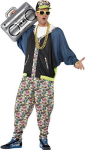 80s Hip Hop Costume, Patterned, with Jacket, Trousers & Hat COST-M NEW