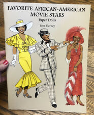 """New ListingPaper Dolls Collection """"Favorite African-Americans Movie Stars"""" Tom Tierney Book"""