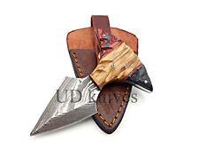 UD CUSTOM HANDMADE 1095 DAMASCUS STEEL  FULL TANG HUNTING KNIFE 452