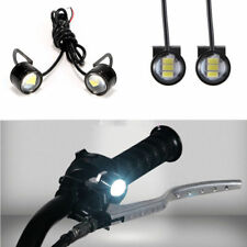 2Pcs White LED Motorcycle Headlight Spotlight Driving Daytime Running Light Lamp