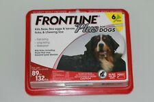 Frontline Flea Control Plus for Dogs 89-132 lbs 6 Pack New (305)