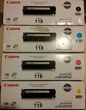 Genuine OEM Canon 118 SET of 4 TONER CARTRIDGE CRG-118BCYM
