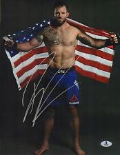RYAN BADER SIGNED AUTO'D 11X14 PHOTO BAS BECKETT COA UFC TUF 8 WINNER 144 192 E