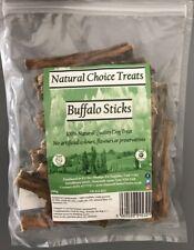 Buffalo Bully Sticks - Grain Free Free Range Grass Dog Treats Natural