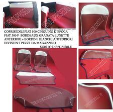 CINQUINO 500 F BORDEAUX GRANATA brd e lunette ANTERIORI (2 pz) BIANCO