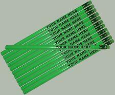 12 pkg - Neon Green Personalized Hexagon Pencils - ** FREE PERZONALIZATION**