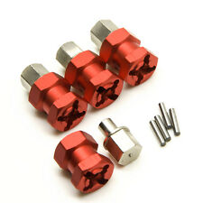Alum 12mm Wheel Hub Hex Drive Adaptor 15mm Extension For RC Car SCX10 WRAITH Red