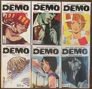Demo #1,2,3,4,5,6 Brian Wood Becky Cloonan 2010 Complete Set Vertigo lot