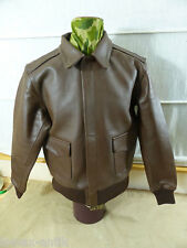 USAAF WW2 Fliegerjacke A-2 US44 A2 Flieger Lederjacke flight jacket