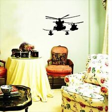 Huhome PVC Wall Stickers Wallpaper Air Force helicopter bedside living room chil
