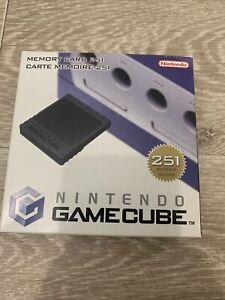 memory card gamecube 251 Blocs En Boîte Complet Comme Neuf