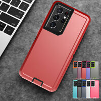 For Samsung Galaxy S21 Ultra S21+ S20 Hybrid Silicone Shockproof Hard Case Cover