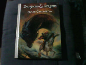 Dungeons and Dragons D&D 1st Edition Hardback -RULES CYCLOPEDIA RARE 1991 1ST