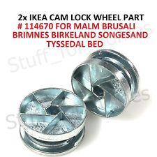 2x IKEA CAM LOCK WHEEL 114670 MALM BRUSALI BRIMNES TYSSEDAL BED