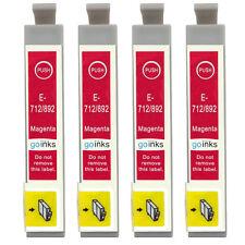 4 Magenta Ink Cartridges for Epson Stylus D78 DX5050 DX9400 SX105 SX218 SX415