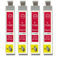 4 Magenta Ink Cartridges for Epson Stylus CX4300, DX4400, DX7000F, DX7450, SX205