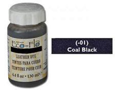 2 bottles Eco-Flo Leather Dye 4.4 fl. oz. (132 ml)  Coal Black - FREE SHIPPING!