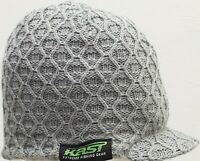 Kast Extreme Fishing Gear Cabled Knit Beanie W/ Brim NWT One Size
