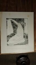 Evelyn B. Williams Etching - GIRL WITH TOWELS - Signed & Numbered 3/20