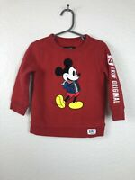 Baby Gap Disney Baby Limited Edition Boys Mickey Mouse Sweat Shirt Red size 2 Ye