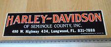 Harley Davidson of Semnole County Longwood Florida USA -  Bumper Sticker