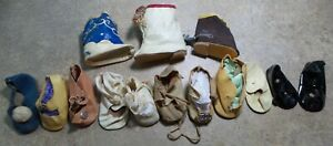 ANTIQUE! LOT Unpaired SHOES BOOTS For COMPOSITION &  BISQUE BABY DOLLS for PARTS