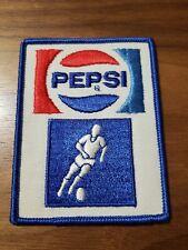 Vintage Pepsi Cola Uniform Patch Retro Decor Soda Soccer player ⚽�